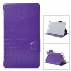Ultrathin Protective TPU + PU Leather Case for Google Nexus 7 II - Purple + Grey