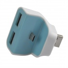 HH-010 Portable Charging Docking Station w/ Micro USB for Samsung + More - Blue + White