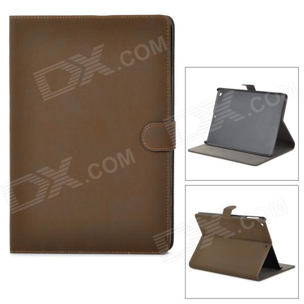 Retro Protective PU Leather + Plastic Case w/ Auto Sleep for Ipad AIR - Dark Brown