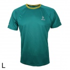 ARSUXEO T1301 Outdoor Cycling Quick Dry Round Neck T-Shirt - Green (L)