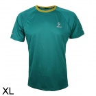 ARSUXEO T1301 Outdoor Cycling Quick Dry Round Collar T-Shirt - Green (XL)