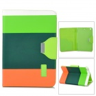 Protective PU Leather Case w/ Card Holder Slots / Hand Strap for Retina Ipad MINI - Dark Green