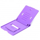 "5-Mode Adjustable ABS Desktop Stand Holder for 4~10"" Cellphones / Tablets - Purple"