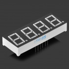 "0.56"" 4bit Common Anode Red LED Digital 7-Segment Display - Black + White"