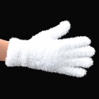 Cute Fluffy Nylon + Acrylic Fiber + Undershirt Cloth Glove w/ LED Light for Party - White