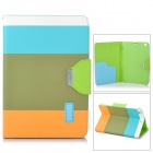 Protective PU Leather Case w/ Card Holder Slots / Hand Strap for Retina Ipad MINI - Army Green