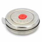 Three Ring Retractable Steel Measure Tape Rule - Silver + Red (2 Meters)