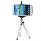 Large Desktop Cellphone Holder + Tripod for Samsung / HTC / Xiaomi + More - Silver + Black
