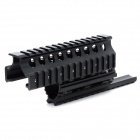 Fishbone Style Steel Scope Mount Base System for AK Seires Guns - Black
