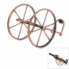 Classic Trailer Style Iron Red Wine Bottle Holder Rack - Bronze