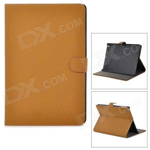 Retro Protective PU Leather + Plastic Case w/ Auto Sleep for Ipad AIR - Brown