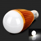 HESION HS01007A 7W 610lm 6300K 7-LED White Light Bulb - Golden (85~265V)