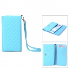Protective PU Case for Samsung Note 3 / 7100 / 9082 w/ Strap - Blue