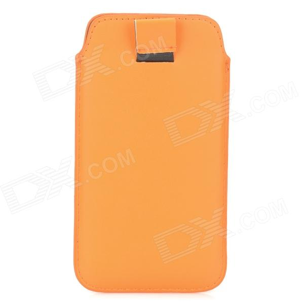 Fashionable Protective PU Leather Pouch for Samsung Galaxy S4 i9500 - Orange
