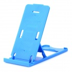 Universal Portable Folding Adjustable Stand for Iphone / Ipad / Samsung P1000 / P7500 - Blue
