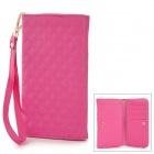 Checked Style Protective PU Leather Case for Samsung Galaxy Note 3 / N7100 / i9082 - Deep Pink