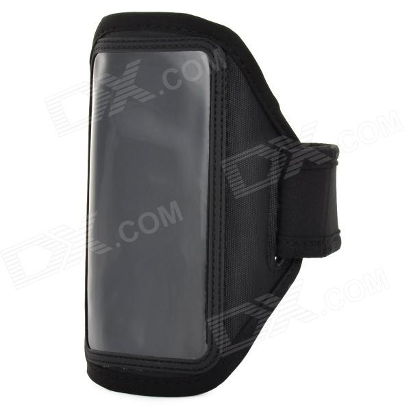 Conveniente Buceo Tela Arm Bag w / Transparent Window para LG NEXUS 5 / E980 - Negro