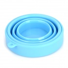 Portable Silicone Telescopic Cup w/ Lid - Blue