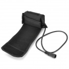 3.4V 4000mAh Waterproof Rechargeable Li-ion 18650 Battery Pack - Black