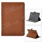 Retro Protective PU Leather + Plastic Case w/ Auto Sleep for Ipad AIR - Coffee