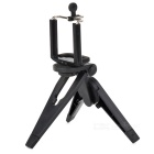 Small Desktop Cellphone Holder + TrIpod for Samsung / HTC / Iphone + More - Black
