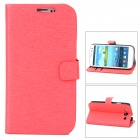 Stylish PU Leather Stand Case w/ Card Slots for Samsung Galaxy S3 / i9300 - Red