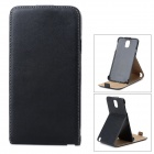 Protective PU Leather Top-Down Open Case w/ Stand for Samsung Galaxy note 3 N9006 - Black