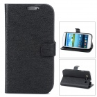 Stylish PU Leather Stand Case w/ Card Slots for Samsung Galaxy S3 / i9300 - Black