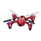 Hubsan X4 H107C 2.4G 4CH R / C Quadcopter w / 0.3MP Camera - Red + Silber (Mode 2)