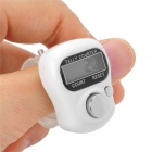 "S-What SXH5136 0.8"" LCD Digital Hand Tally Counter - White + Silver"