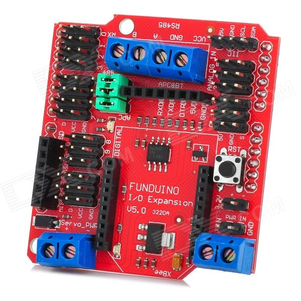 FUNDUINO Arduino Xbee IO Expansion Shield - Red + Black