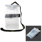 "Tteoobl T-06C PVC Waterproof Bag w/ Strap / Armband for 4.5~5.5"" Cellphone - Translucent White"