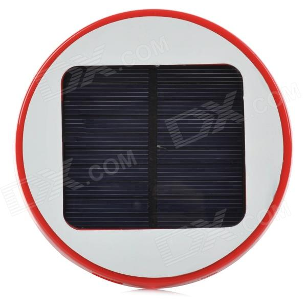 HX-10 Universal Round 5V 1800mAh Li-ion Polymer Battery USB Solar Power Charger - Red + White 5pcs 5v 1a micro usb 18650 li ion lithium battery charging protection board charger module tp4056 for arduino