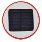 HX-10 Universal Round 5V 1800mAh Li-ion Polymer Battery USB Solar Power Charger - Red + White