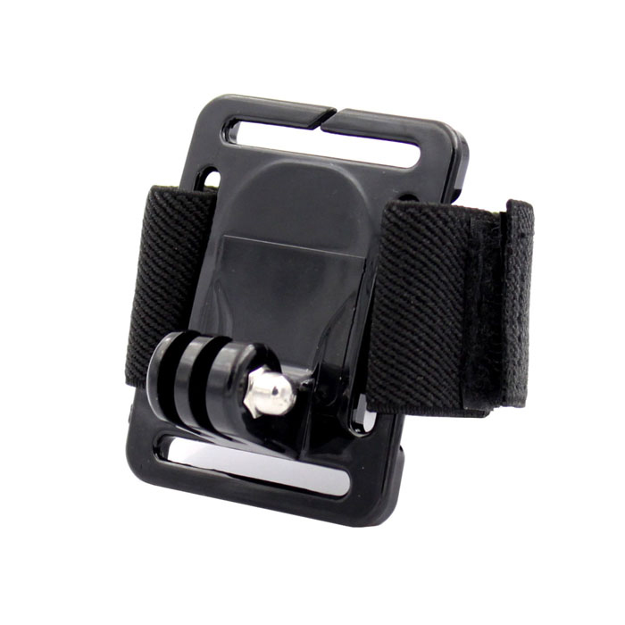 SMJ Sport Camera Wristband Mount for Gopro Hero 4/ 2 / Hero 3 / Hero 3+ / SJ4000 - Black - DXMounting Accessories<br>Brand SMJ Qty 1 piece(s) per pack Color Black Material Plastic + stainless steel + nylon Socket Size No  Max Load 0.5 kg Max Height No cm Min Height No cm Other Features Band length: 29cm; Width: 3.5cm; Holder size: 6.5 x 5 x 0.5cm; Easily install the camera onto your hands convenient to use. Packing List 1 x Wristband<br>