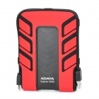 "Adata SH93 Portable Waterproof Shockproof USB 2.0 480Mb/s 2.5"" HDD - Black + Red (500GB)"