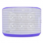 Popupine N100 Dual USB Quiet 6-Fan Cooling Pad for Laptops - Purple