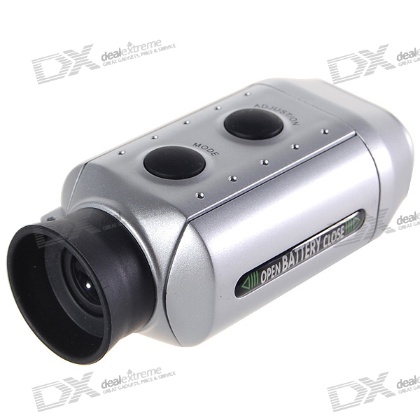 Digital 7x Golf Range Finder Scope with Carrying Case (2*CR2032) golf ball sample display case