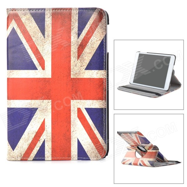 Retro UK National Flag Style Protective PU Leather Case w/ Auto Sleep for Ipad MINI - Red + Blue battery ac car charger set for canon digital ixus series ixus 800 is more