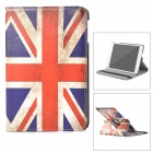 Retro UK National Flag Style Protective PU Leather Case w/ Auto Sleep for Ipad MINI - Red + Blue