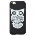 Owl Pattern Glow-in-the-Dark Protective Plastic Back Case for Iphone 5C - Black + Light Green