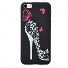 High Heels Pattern Glow-in-the-Dark Protective Plastic Back Case for Iphone 5C - Black + Deep Pink