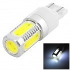 LD T20 7.5W 350lm 6500K 15-LED White COB Car Turn Signals - Silver + Yellow + White (10~13.6V)