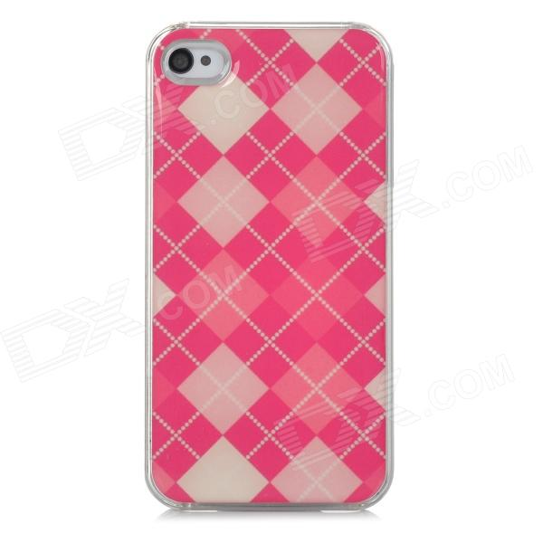 Stylish Checked Style Protective Plastic Back Case for Iphone 4 / 4S - Deep Pink + Beige + Pink other tamehome 2015 1 4 hifi