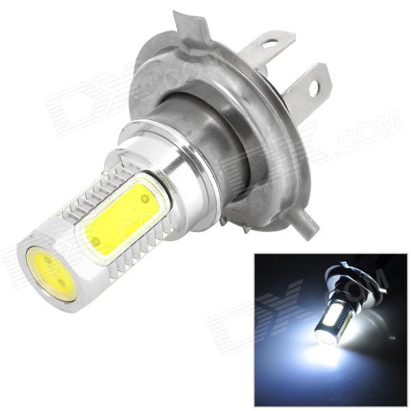LD LD-FLC H4 7.5W 350lm 6500K 15-LED White Light COB Car Fog Lamp - Silver + Yellow (10~13.6V)