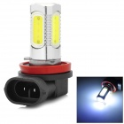 LD H8 7.5W 350lm 6500K 15-LED White Light COB Car Turn Signals - Yellow + Black + Silver (10~13.6V)