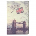 London Bridge Pattern Protective Flip Open Leather Case w/ Auto Sleep for Ipad MINI 2 - Multicolored