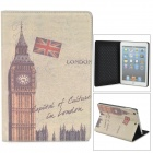 Big Ben Style Protective PU Leather + Plastic Case w/ Auto Sleep for Retina Ipad MINI - Light Green