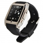 "1313 GSM Watch Phone w/ 1.55"" Screen, Bluetooth, Quad-Band, Java and FM - Black + Silver"