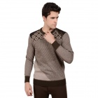 DI GUO BAO WANG Both Sides Can Wear Men's Thermal Underwear Suits - Brown + Dark Grey (Size XXL)